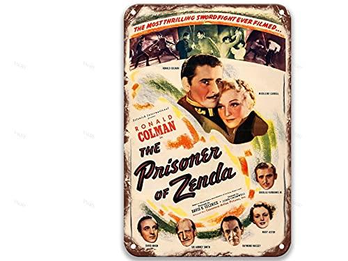 NNHG The Prisoner Of Zenda (1937), Targa in metallo con film vintage, decorazione da parete moderna per esterni, uomo, cucina, giardino, 20 x 30 cm