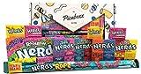 Picaboxx Wonka Nerds Geschenkbox für amerikanische Süßigkeiten - 12 Produkte Sparpaket | Amerikanischer Süßigkeitskorb | Süße Geschenkbox mit Schaufenster