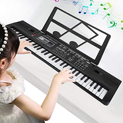 Cocoarm Tastiera Digitale 61 Tasti Portatile Organo Musica elettronico per Bambini Tastiera Portatile con Microfono per Bambini Tastiera Digitale Pianoforte Principianti Pianoforte Digitale