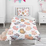 LunchBaggg Pig Unicorn with Wings Bedding Cover Sets for BabyCool Zipper Reversible