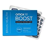 Omax Brain Boost Memory & Focus Supplement Omega 3 DHA + Alpha GPC   Support Brain Health, Improve Memory, Support Focus, Natural Energy,   60 Softgels