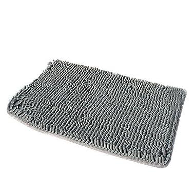 Soft Microfiber Shag Bath Rug Non-slip Bathroom Mat (Grey)
