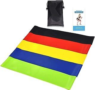 5pcs/set Workout Resistance Bands Loop Fitness Yoga Leg Strength Flexibility Exercise Band Elastic Stretch Strap