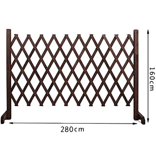 WXQIANG Garden Fence Screen Plant Climbing Frame Stand-up Flower Stand Flower Bed Edge Animal Guardrail, 5 Sizes, 2 Styles Support Customization (Color : BROWN, Size : 190X90CM)