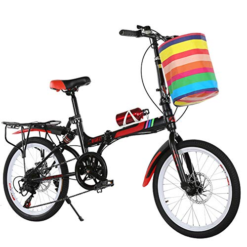 RXRENXIA Folding Fahrrad, Mini 14 Zoll Ultra Light Rädchen Shift-Aluminium Rahmen Einfach Folding Und Machen Design Erwachsene Studenten Radfahren,C