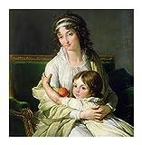 WENYOG Cuadro En Lienzo Resumen La Mujer está sosteniendo a Sus Hijos Mundo Famosa Pintura al óleo impresión en la Pared de la Pared de Lienzo imágenes para la decoración de la Sala de Estar