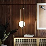 Mystery Lámpara Lámpara Personalidad Creativa Cafe Luces Restaurante Bar Simples Lámparas Aros de Cristal,Oro-20 * 50Cm