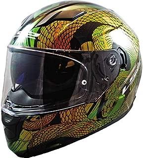 LS2 Helmets - FF320 Stream Evo - Snake Chameleon - Gloss Gold - Dual Visor Full Face Helmet - (Medium - 570 MM)