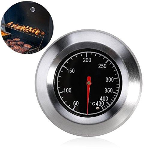 BESTOMZ BBQ Thermometer für alle Grills, Smoker, Räucherofen und Grillwagen, analog, Grillzubehör