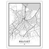 Lonfenner Leinwand Bild,Belfast Großbritannien Abstrakte