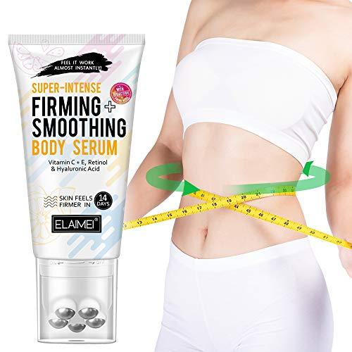 Crema adelgazante para eliminar la celulitis con rodillo de masaje, crema caliente, reafirmante la piel y humedece la cintura, el vientre y los glúteos perfectamente.