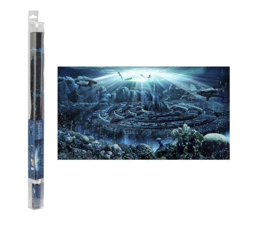 Hydor B00310 aquariumdecoratie Atlantis achtergrond en gel, 80 x 40 cm
