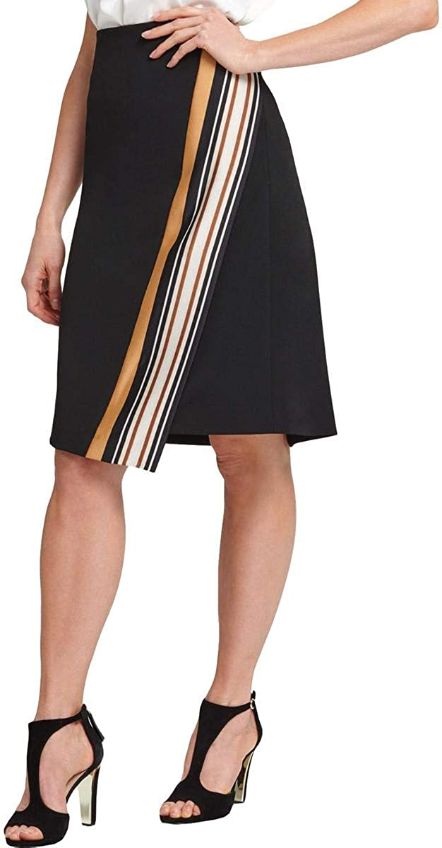 DKNY Womens Gray Striped Knee Length Shift Wear to Work Skirt Size 6