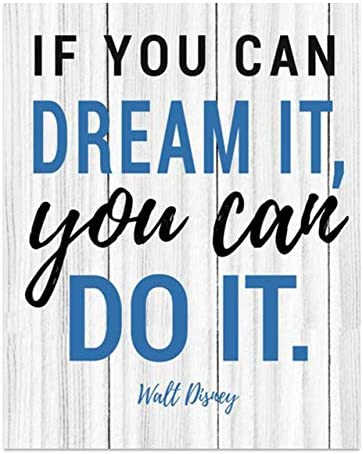 Walt Disney Quotes Wall Art If You Can Dream It You Can Do It 8 x 10 Rustic Wood Sign Replica product image