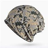 UGFQ Bufanda y Sombrero Otoño Invierno Sombrero Hombres Mujeres Tactical Military Army Camouflage Beanie Gorro de algodón de Punto Bufanda Gorra de Cola de Caballo2