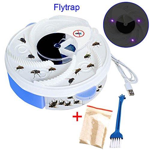 Starall Mouche Mosquito Bug Piège électrique UV Lumière Violet Design Fly Midges Catch Dispositif avec Piégeage Alimentaire USB Cable pour la Maison H?tel Restaurant (Bleu)