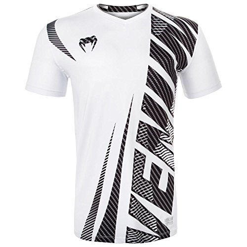 Venum Men's Galactic 2.0 Carbon Dry Tech Tee Shirt White Large