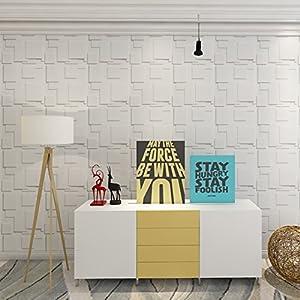 Art3d Decorative Tiles 3D Wall Panels for Modern Wall Decor, White, 12 Panels 32 Sq Ft