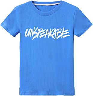 Kids Boys Girls UNSPEAKABLE Logo Print Childs Pullover Off Hoodie with Pocket Long Sleeve Hoody T-hirts