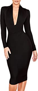 Best plunge dress with sleeves Reviews