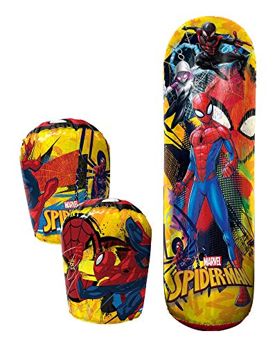"Hedstrom Spider-Man Bop Combo Inflatable Punching Bags and Gloves, 36"", Red"