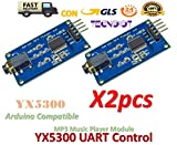 TECNOIOT 2pcs YX5300 UART Control Serial MP3 Music Player Module