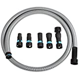 Cen-Tec Systems 94698 Quick Click 10 Ft. Hose for Home and Shop Vacuums with Expanded Multi-Brand Power Tool Adapter Set for Dust Collection, Silver