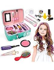 Maquillaje para Niñas con Estuche de Maquillaje, Set de Cosméticos Juguetes Regalos 4 5 6 Años
