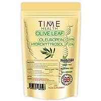 Olivenblatt Extrakt (60 Kapseln / 120 Kapseln) - Oleuropein 50% / Hydroxytyrosol 20% - GMP-Qualitätssicherung