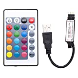 MASUNN 24 Llaves USB Led Controlador con Mando A Distancia para DC5V 5050 RGB Franja De Luz