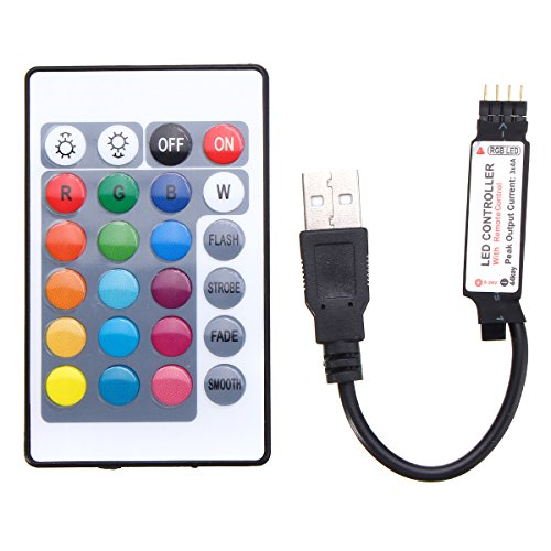 MASUNN 24 Tasten USB Led Controller Mit Fernbedienung Für DC5V 5050 RGB Strip Light