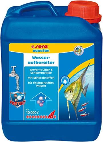 Sera aquatan, Prodotto per Il Trattamento delle acque, Prodotto di Marca con Portata Molto Elevata, dosaggio da 5 ml a 20 Litri, per Acqua Dolce e Marina