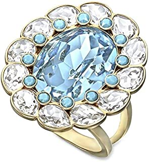 Swarovski Azore Gold Plated Crystal Fashion Ring - Size 18.15 mm