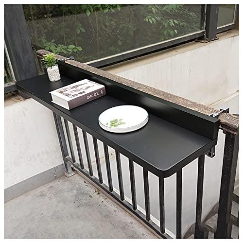 Balcón Colgando Barandilla De Mesa De Metal Aleación De Aluminio Colgando Mesa Plegable Casa Barra Contador Pared Colgante Escritorio Ocio Mesa(Size:47.2×15.7in/120×40cm)