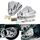 YDLMT 2pcs Motorcycle Chrome Rear Wheel Shaft Cap Side Protector Guard Axle Covers Compatible with Harley Softail Heritage Springer Standard Custom 1986-2007