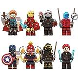 BAS Marvel Vengadores Figuras de Iron Man, Juguetes de acción Capitan America Muñecos cabezones Héro...