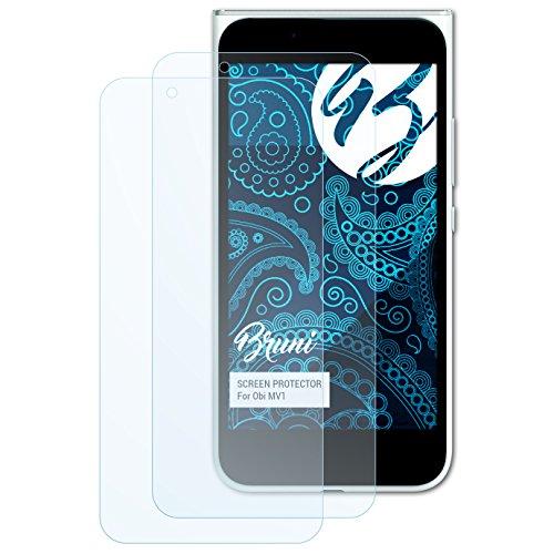 Bruni Schutzfolie kompatibel mit Obi MV1 Folie, glasklare Displayschutzfolie (2X)
