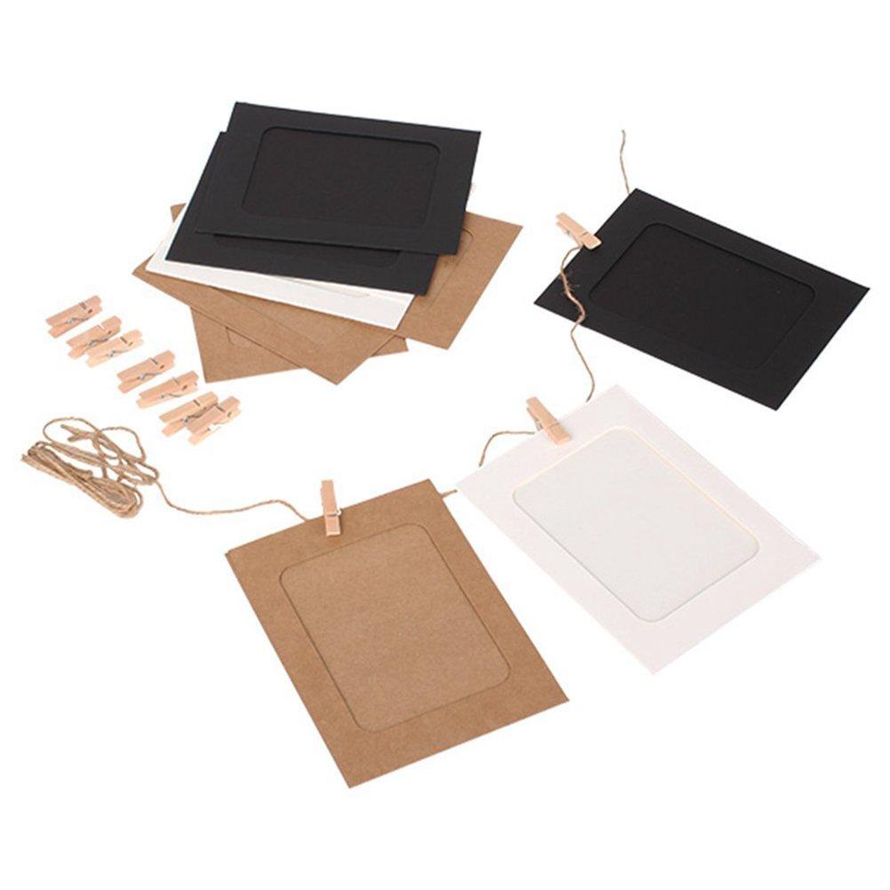 Leorx - Portafotos de cartón para colgar en la pared, para manualidades, en paquete de 10 unidades: Amazon.es: Bricolaje y herramientas