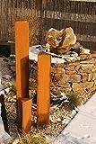 JH-Metalldesign Säulenset Edelrost Säulen Set Rost Garten Dekoration Stele