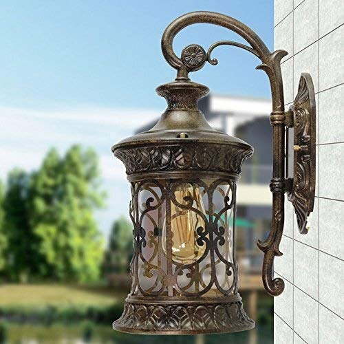 WZXCAP European Style P65 waterdichte outdoor wijnoogst glazen muur lantaarn retro industrie gaders buitenwandlampen creatieve aisle balkon gang patio yard wandlamp lichthof licht