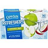 Capri Sun Fruit Refreshers Awesomely Apple Ready-to-Drink Juice (40 Pouches, 4 Boxes of 10)