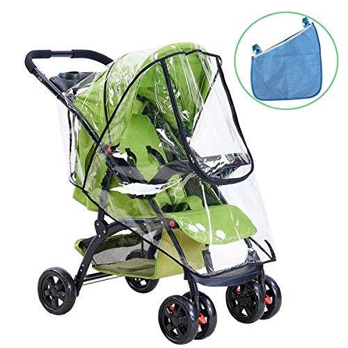 Universal Baby Cochecito de lluvia y Buggy Bolsa de almacenamiento, HULISEN Impermeable Parasol cochecito de viento de protección contra el polvo de escudo y organizador para cochecitos