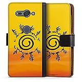 DeinDesign Étui Compatible avec Sony Xperia XZ2 Compact Étui Folio Étui magnétique Naruto...
