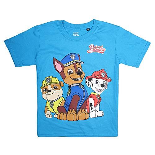PAW PATROL Jungen Group T-Shirt, Blau (Sapphire Sap), 5-6 Jahre (Herstellergröße: SMALL)