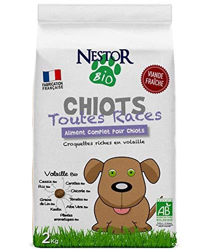 petit un compact Nestor Bio – Nourriture séchée biologique pour chiots – 2 kg
