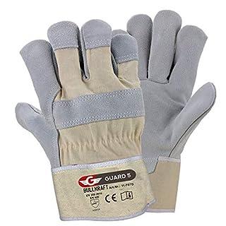 scheda 5 paia - guanti da lavoro premium guanti in pelle guanti di protezione robusti per il giardino e l e