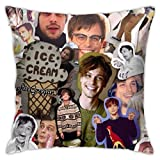 Yuanmeiju Criminal Minds Mat-Thew Gr-ay Gub-ler Durable Polyester Fleece Pillowcase Throw Pillow Covers Cases Square Hug Pillowcase Decorative Cushion Covers Cushion Case for Sofa 18'x18'