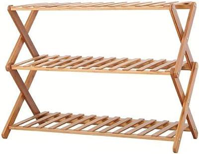 Bamboo Foyer Shelf Shelf Rack Stand Storage Bench Shoes Organizador Gabinete No Tejido Cubierta de Tela Pequeño Nivel de múltiples Capas Estantes apilables Madera Bamboo Acero Inoxidable Hogar Resina: Amazon.es: Hogar
