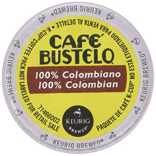 Cafe Bustelo Coffee 100% Colombian Single Serve K-Cups for Keurig Brewers, 18 count