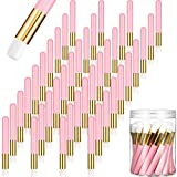 Lauwell 40 Pieces Lash Shampoo Brushes Nose Pore Deep Cleaning Brush Peel off Blackhead Removing Brush Tool Cosmetic Lash Cleanser Brush Facial Cleansing Brushes with Storage Box for Facial Cleansing
